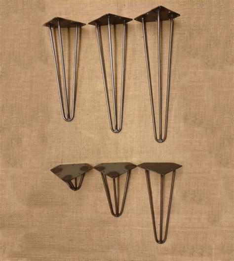 hairpin leg bench kit 4x cast iron style antique hairpin table legs three