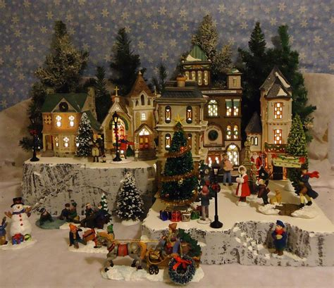 images of christmas village displays christmas snow village display platform base for dept 56