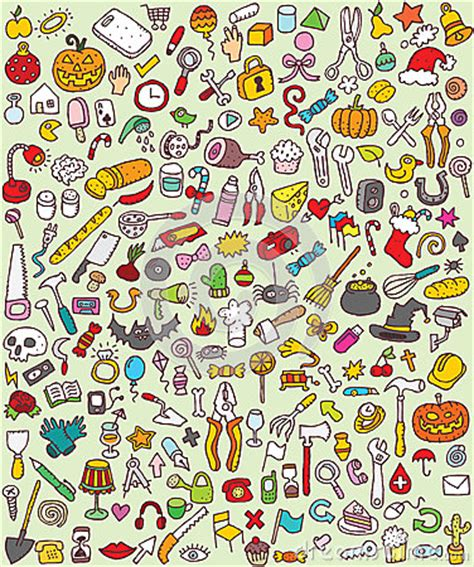 free doodle themes for bbm big doodle icons set stock images image 29987764