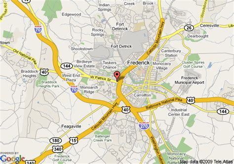 maryland map frederick map of quality inn frederick frederick