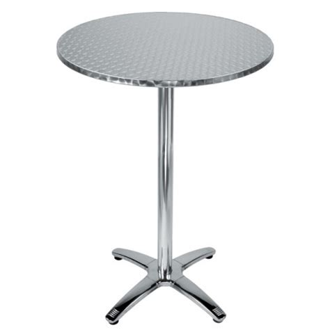 Stainless Steel Bistro Table 28 Quot Stainless Steel Bar Height Table