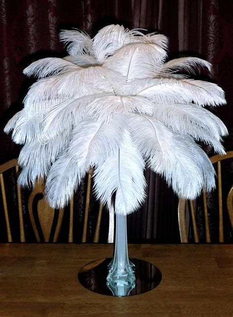 white ostrich feathers for sale centerpieces 16 quot ostrich feather centerpiece 16 inch eiffel tower vase