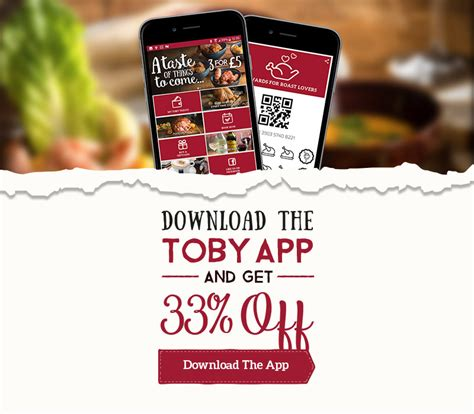 Toby Carvery Gift Card - toby carvery park place home of the roast
