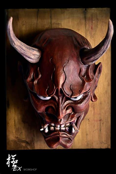 hannya mask tattoo wallpaper hannya mask red by pochishen on deviantart
