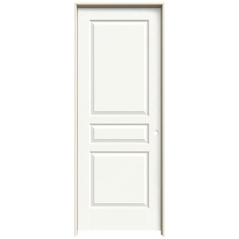 Prehung Interior Doors Jeld Wen 30 In X 80 In Avalon White Painted Left Textured Hollow Molded Composite