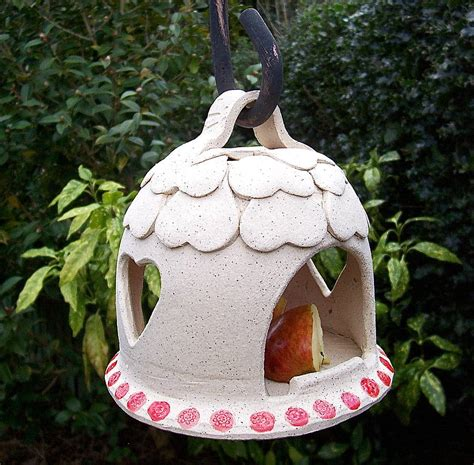 Handmade Bird Feeders - handmade stoneware bird feeder by brick house