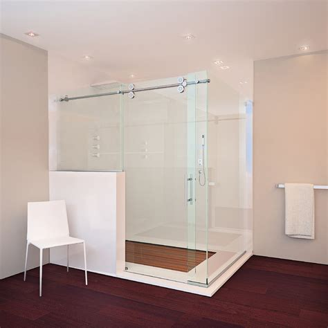 Glass Crafters Shower Doors Glasscrafters Matrix Series Frameless Shower Enclosure Contemporary Bathroom New York
