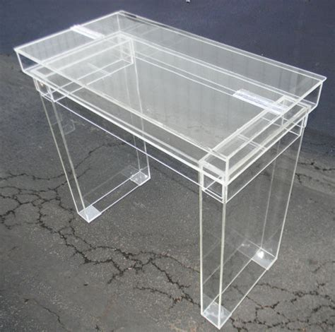 Perspex Desk by Items Similar To Lucite Desk Cosmetic Table Fully