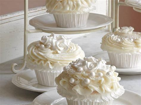 Wedding Cake With Cupcakes by Wedding Cake Cupcakes Recipe Myrecipes
