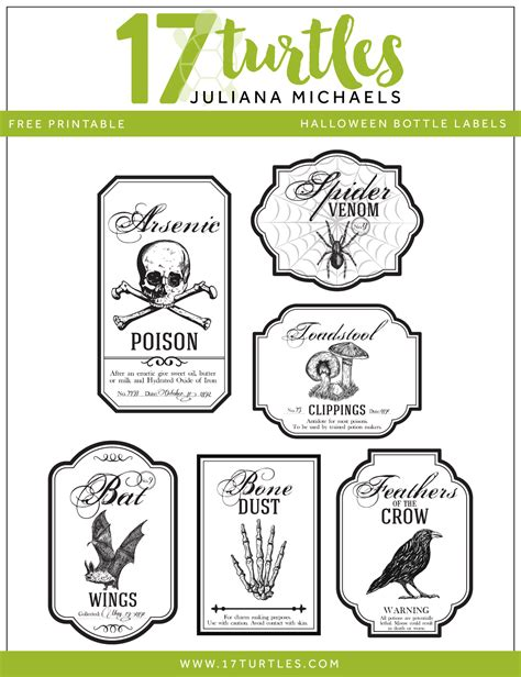 printable tags michaels halloween apothecary bottles halloween printable included