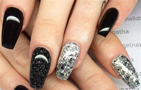 imagenes de uñas negras con plateado dise 241 os de u 241 as con escarcha u 241 asdecoradas club