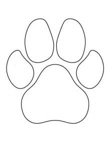 O M Template by Paw Print Pattern Use The Printable Outline For