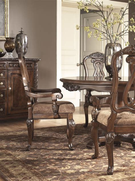 buy north shore round dining room set by millennium from north shore round pedestal dining room set from ashley