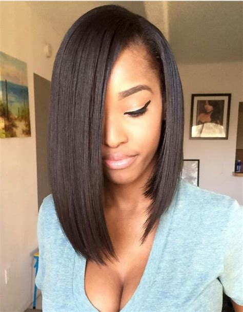 Short Bob Weave With A Woman Wearing A Bathing Suit | bob hair black hairstyles pinterest bobs hair style
