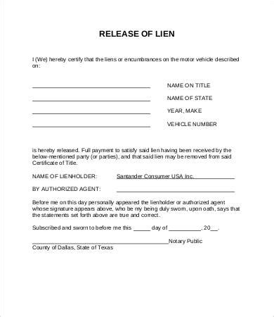 lien release form 8+ free word, pdf documents download