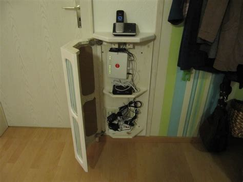 cabinet for router and modem telephone and wlan router cabinet