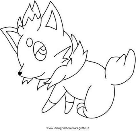 pokemon coloring pages zorua free coloring pages of pokemon zorua