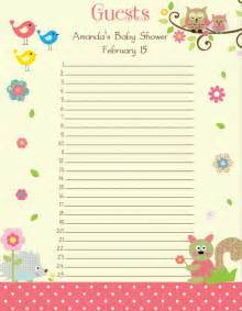 Baby Shower Guest List Template by Baby Shower Guest List Who To Invite Cool Baby Shower Ideas