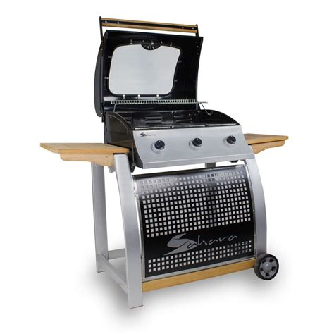 Gas Patio Heaters B Q Bbq 3 Burner Oak Gas