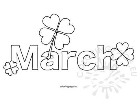 month of march coloring pages www imgkid com the image