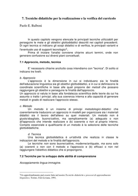 test d ingresso dams balboni approccio metodo tecnica1