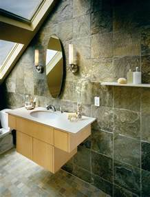 Bathroom Slate Tile Ideas bathroom with slate walls and floor tiles idea