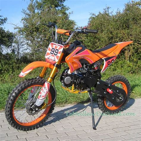 125 motocross bike moto cross dirt bike 125cc orange livraison incluse le