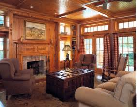 Decorating Ideas For Wood Paneled Rooms Custom Knotty Pine Paneling Mantel Family Room By Culin