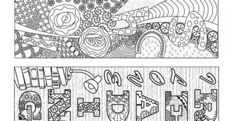 school doodle colouring bookmarks school doodle colouring bookmarks printables pinterest