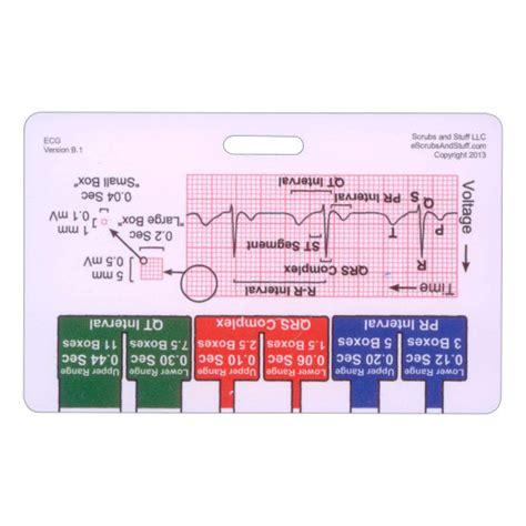 printable ekg ruler ekg ruler badge pocket card horizontal for nurse paramedic emt