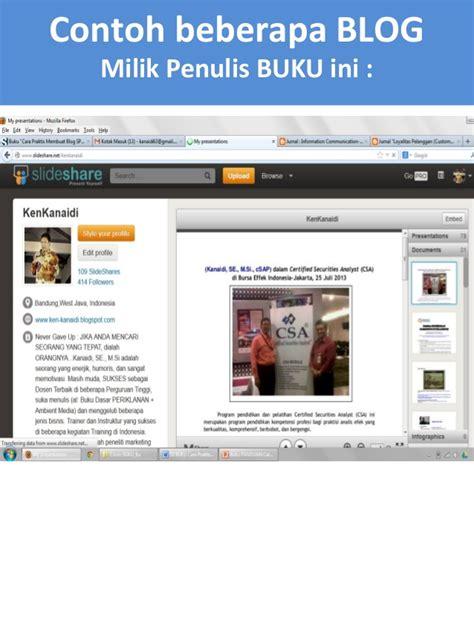 membuat blog praktis buku quot cara praktis membuat blog spektakuler quot