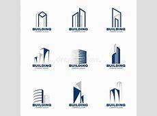 Blue Gray Building Logo Set Vector Design Stock Vector ... W Hotel Logo Vector