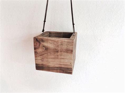 indoor wood planter hanging wood planter indoor planter reclaimed wood