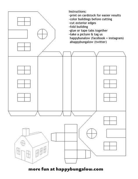 Paper Folding House Template - paper houses templates zoeken