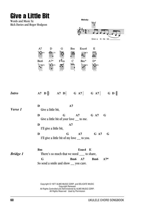 strumming pattern hear you me give a little bit sheet music by supertr ukulele with