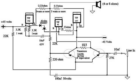 150w power lifier schematic design