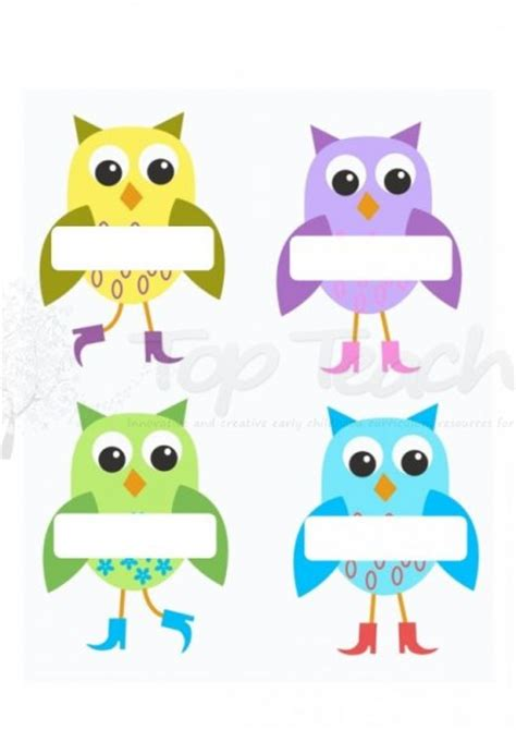 free printable owl nameplates 5 best images of free printable owl name tags cute owl