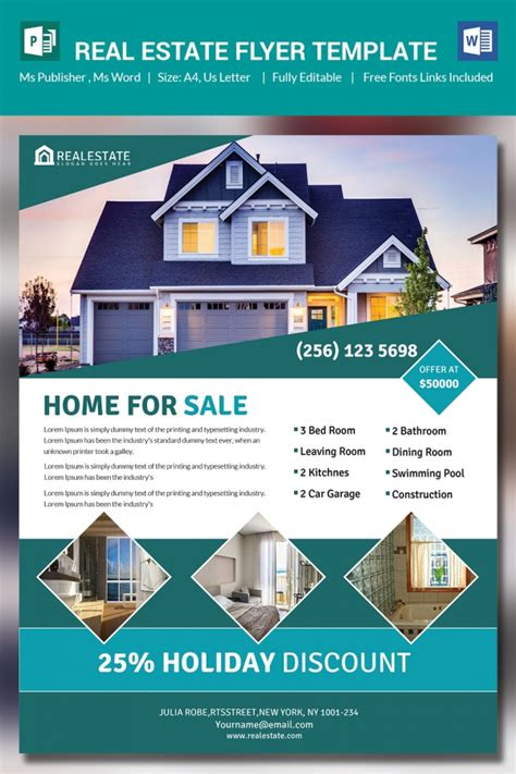 real estate flyers template background microsoft publisher