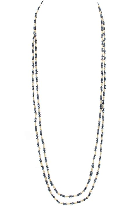 layered beaded necklace layered glass bead necklace necklaces