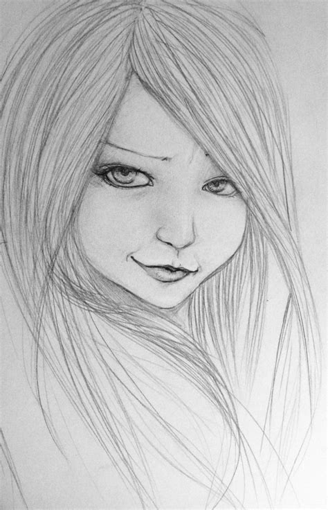Photos Girl Easy Pencil Drawing Drawing Art Gallery Drawings Images