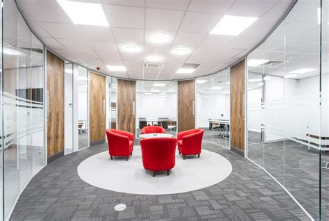 Poi Business Interiors by Design Specialists Planned Office Interiors Ltd Refreshes Ale Heavylift Office Space Carpet