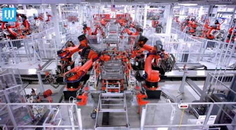 tesla where is it made the robotic factory where teslas are made wordlesstech