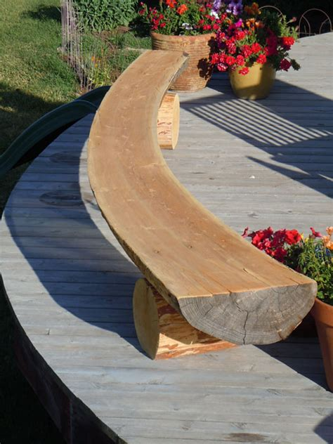 curved garden benches wooden curved wooden bench for garden and patio homesfeed