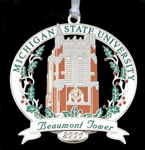 Of Michigan Ornaments - 2006 official michigan state ornament