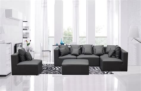 grey leather sofa modern divani casa 206 modern grey bonded leather sectional sofa