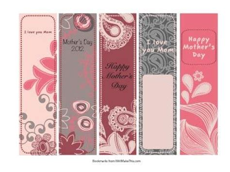 printable bookmarks for young adults 17 best images about mother s day bookmarks on pinterest