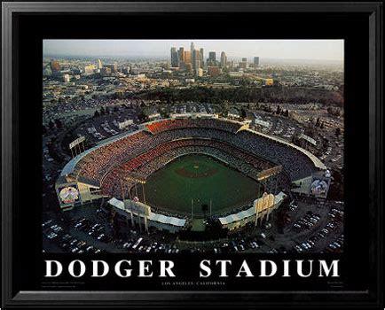 dodger stadium aerial poster