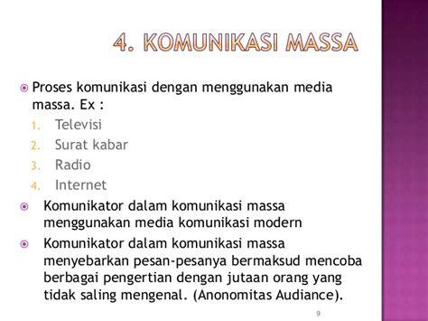 pola pola komunikasi di indonesia