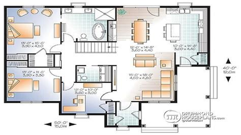 two master 3 bedroom open floor plan 3 bedroom house plans with two