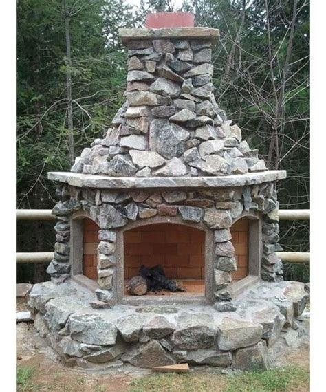 custom outdoor fireplace outdoors pinterest